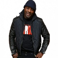 Idris Elba Yardie Black Leather Jacket