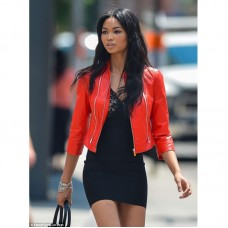 Iman Rock Red Leather Jacket