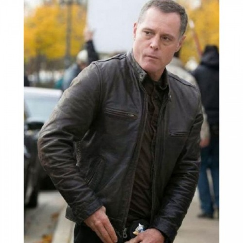 Jason Beghe Brown Leather Jacket