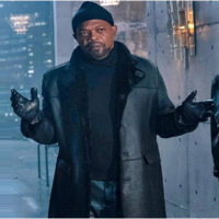 John Shaft II Fur Black Coat