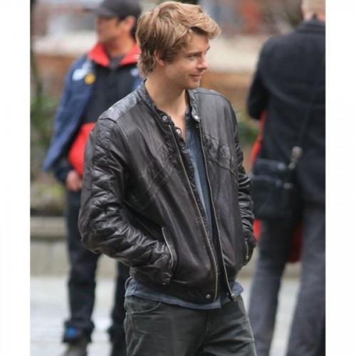 John Young Luke Mitchell Leather Jacket