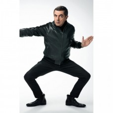 Johnny English Strikes Again Black Bomber Jacket