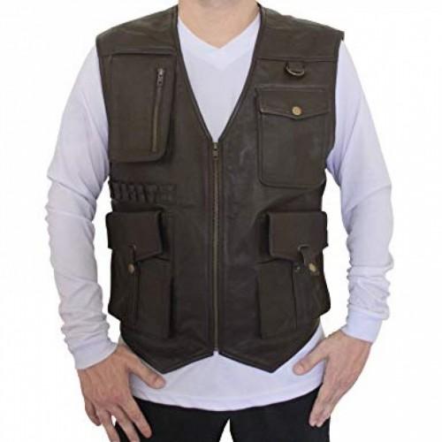 Jurassic World Fallen Kingdom Chris Pratt Leather Vest