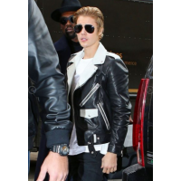 Justin Bieber Black Stylish Leather Jacket