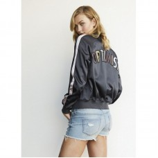 Karlie Kloss For Express Satin Reversible Bomber Jacket