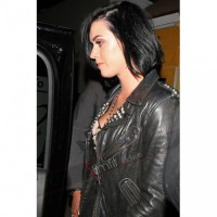 Katy Perry Motorcycle Black Leather Jacket