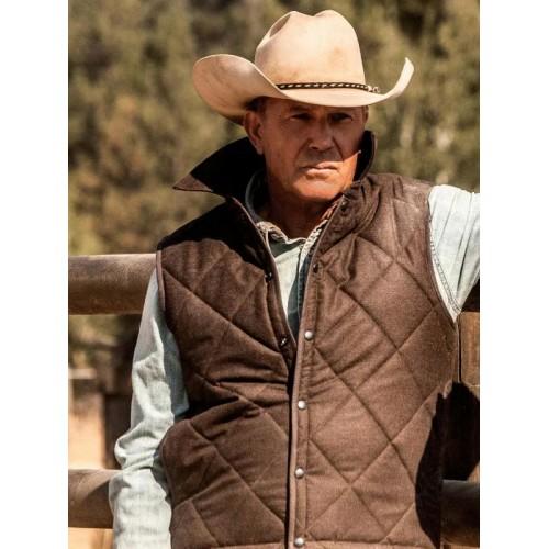 Kevin Costner Yellowstone John Dutton Vest