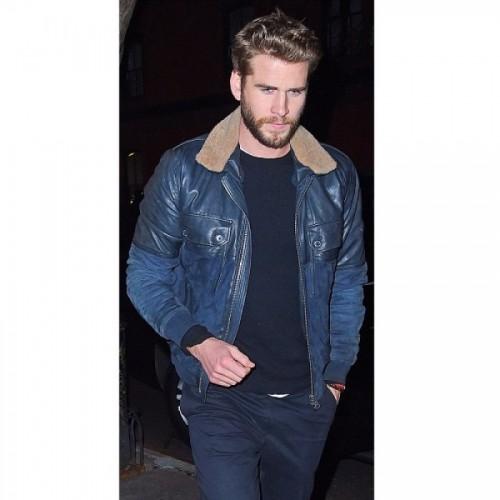 Liam Hemsworth Stylish Leather Jacket