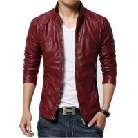 Maroon Styler Slim Leather Jacket