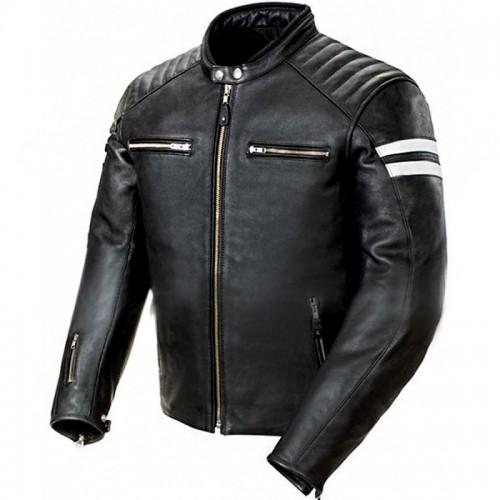 Mens Classic Biker Jacket