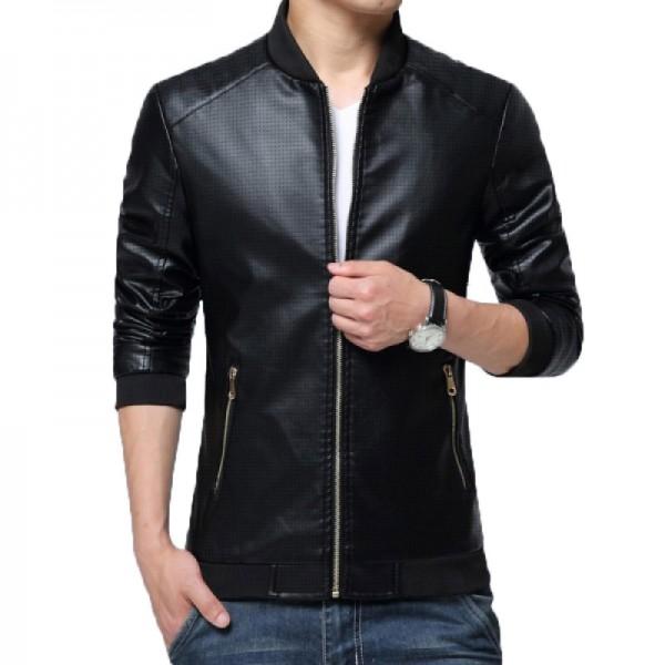 Mens Retro Vintage Casual Leather Jacket