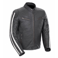 Minnesota Quilted Shoulder Leather Jacket