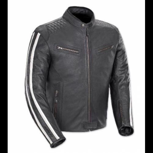 Minnesota Quilted Shoulder Leather Jacket