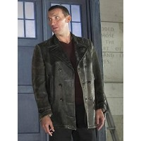 Ninth Doctor Black Leather Jacket