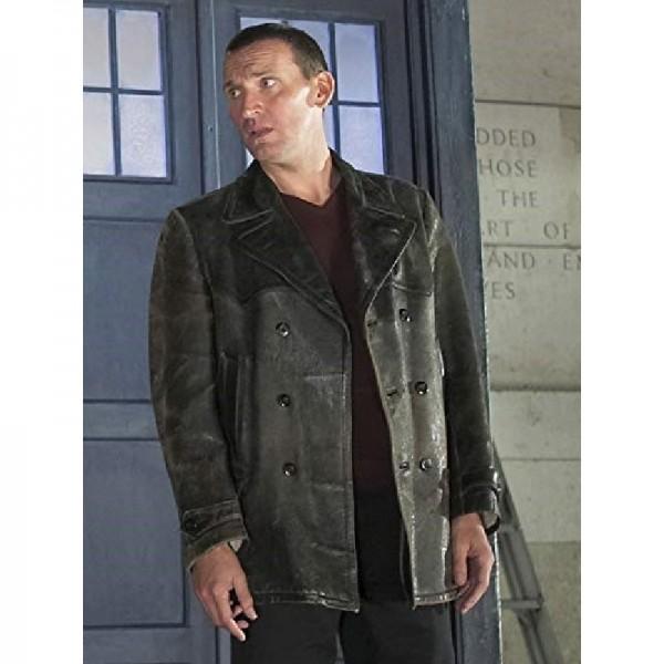 Ninth Doctor Black Leather Jacket