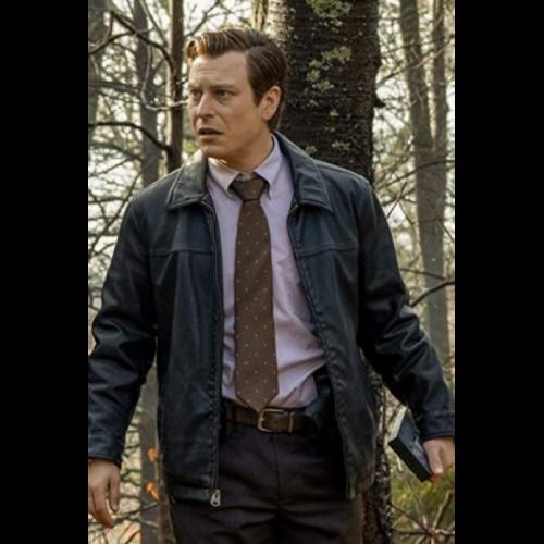 Noah Segan Knives Out Leather Jacket