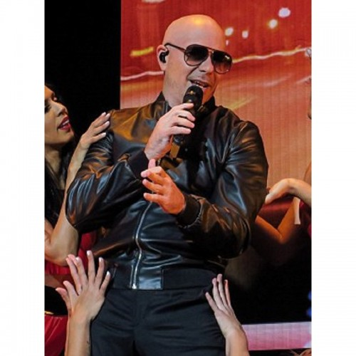 Pitbull Bomber Black Leather Jacke