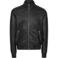 Pure Black Leather Jacket For Men