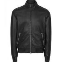 Pure Black Leather Jacket For Men