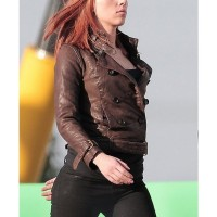 Scarlet Johnson Winter Soldier Leather Jacket
