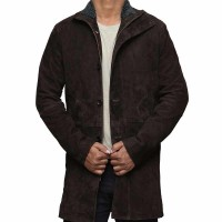 Sheriff Dark Brown Pure Leather Coat