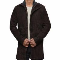 Sheriff Dark Brown Pure Leather Coat