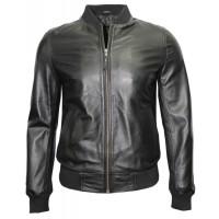 Silver Mens Biker Bomber Leather Jackets