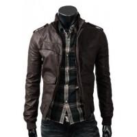Slim Fit Dark Brown Jacket