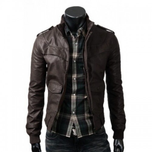 Slim Fit Dark Brown Jacket