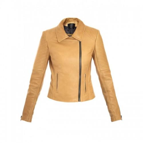 Slimfit Side Zipper Women Leather Jacket