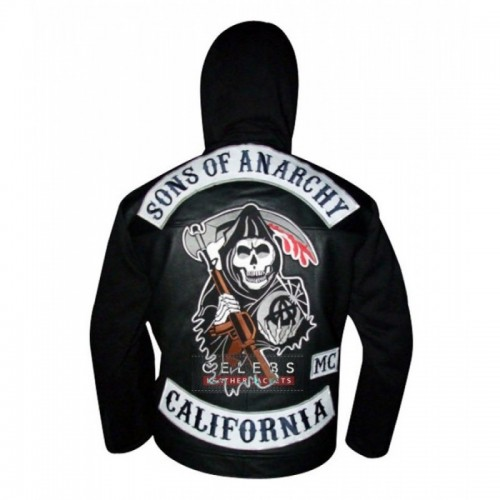 Sons of Anarchy Hooded Leather Jacket