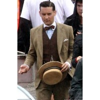 The Great Gatsby Brown Leather Suit