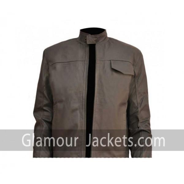 Transformers 3 Shia Labeouf Grey Black Slim Bomber  Jacket