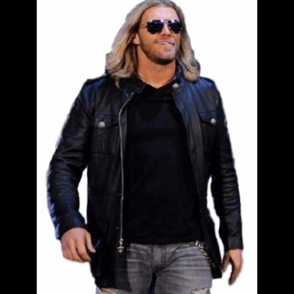 WWE Edge Wrestler Black Leather Jacket