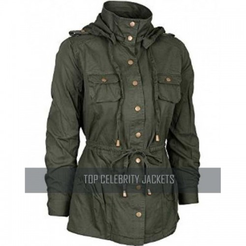 Women Hooded Style Long Versatile Coat