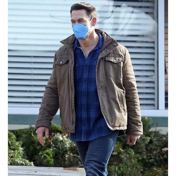 John Cena Suicide Squad Brown Cotton Jacket