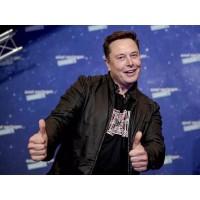 Tesla Boss Elon Musk Black Leather Jacket