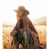 Yellowstone Beth Dutton Brown Wool Long Coat